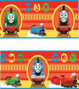 Childrens Rooms Thomas the Tank Engine Thomas Wallpaper Border