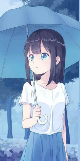 Anime girl cute with umbrella art 1080x2160 wallpaper Anime