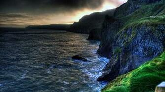 The wallpaper of amazing coastline of Ballintoy in Northern