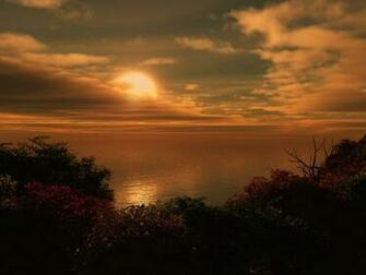 1024x768 Ocean Sunset desktop PC and Mac wallpaper