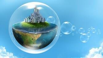 Bubble World HD Wallpaper
