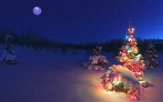 alberta canada 178694 christmas tree glowing night snow alberta canada