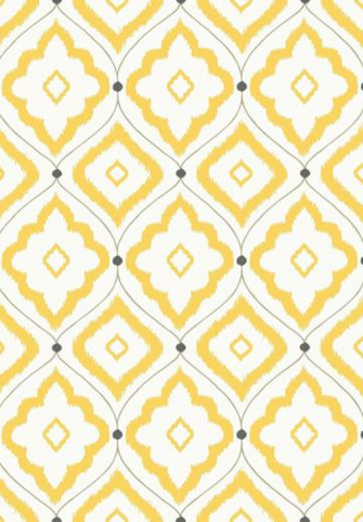 Bungalow Wallpaper A large trellis design wallpaper with rough diamond
