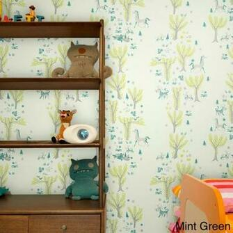 Forest Picnic Print Adhesive Removable Wall Tiles   Overstock
