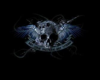 3D abstract Dark skull Abstract Fantasy HD Desktop Wallpaper
