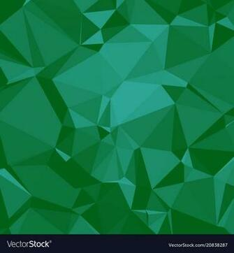 Shiny polygonal background in emerald seaform Vector Image