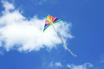 Kite flying bokeh flight fly summer hobby sport sky toy fun