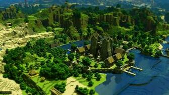 Minecraft Trees Houses Mountains Water 21189 HD Minecraft