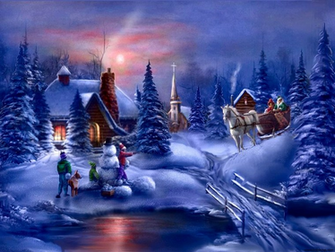 Christmas Night   Daydreaming Wallpaper 27551926