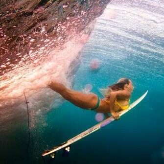 Best Wallpapers for all iPhone Retina Women Duck Surfing iPad