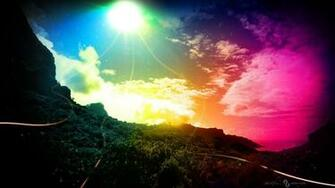 1366x768 hd sky rainbow and color light backgrounds widescreen
