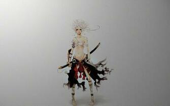 Samurai Girl blonde girl gray samurai sexy sword
