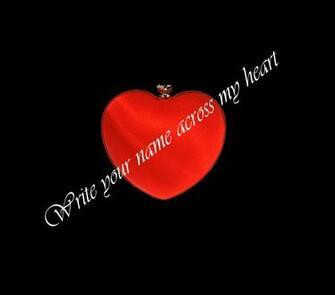 Write your name across my heart wallpaper   ForWallpapercom