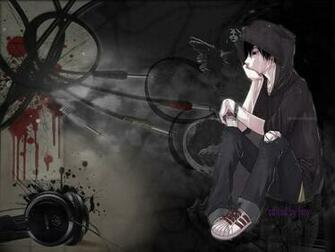 PSP Themes Wallpaper emo anime wallpaper   Anime