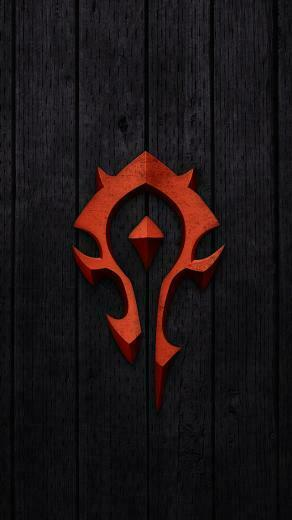 Red World of Warcraft Horde Badge Wallpaper   iPhone Wallpapers