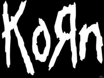 Wallpaper black Korn Korn logo