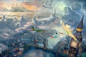 Thomas Kinkades Disney Paintings   Peter Pan   Walt Disney Characters