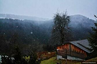 Amazoncom Winter Mountain Farmhouse Photo Print Professional