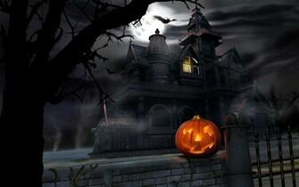 desktop wallpaper of halloween night computer desktop