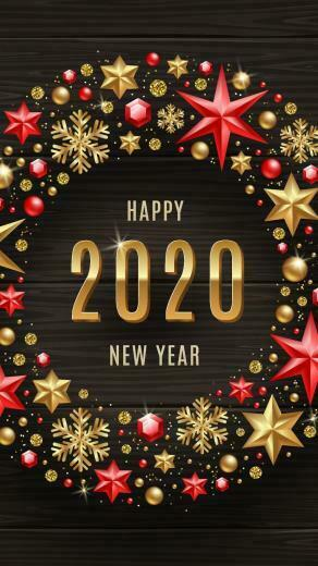 Download Happy New Year 2020 Wishes Wallpaper for your Android