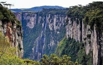 Wallpaper greens open height Mountains Waterfall Rocks