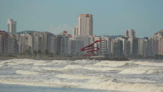 View of the city Santos So Paulo Brazil Buildings Litoral