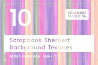 10 Scrapbook Sherbert Background Textures