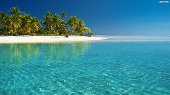 tropical beach wallpaper glass water 1920x1080jpg