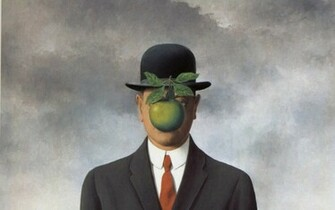 magritte son of man 1686x2198 wallpaper High Resolution WallpaperHi