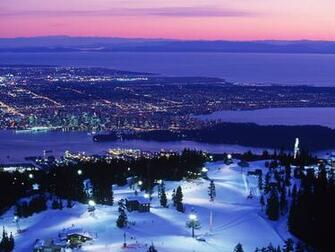 Vancouver Mountains Night HD Wallpaper Background Images