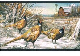 Bird Turkey Snow Wildlife Lodge Country Cabin Wallpaper Border eBay