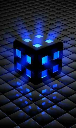Blue Cube Galaxy S3 Wallpaper 480x800