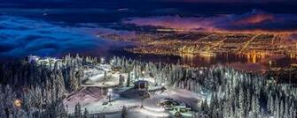 nature Landscape Panoramas Cityscape Vancouver Lights Winter