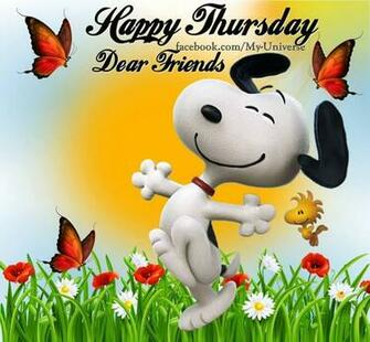 Happy Thursday Dear Friends Snoopy Quote Pictures Photos and