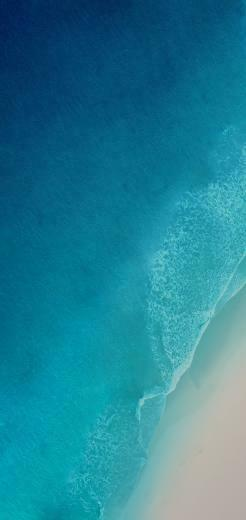iOS 12 iPhone X Aqua blue Water ocean apple wallpaper