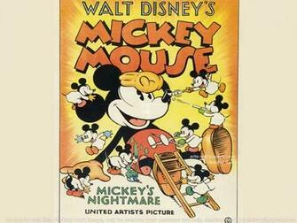 Free Download Mickey Mouse Vintage Poster Art Print