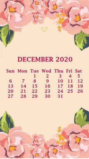 iPhone 2020 Calendar Wallpaper
