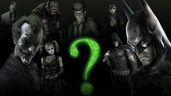 Batman Arkham City Batman Arkham Stad Joker Riddle Wallpaper