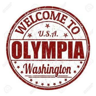 Welcome To Olympia Grunge Rubber Stamp On White Background Royalty