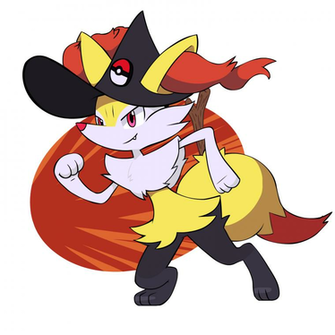 Pretty Braixen Witchy by Coonstito