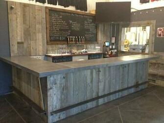 Reclaimed Wood Tasting Room Wall Cladding Caulk Boards Industrial