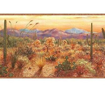 Southwestern DESERT Sunset WALLPAPER BORDER wall paper