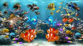 Fonds dcran Aquarium PC et Tablettes iPad etc
