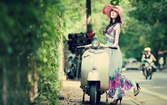 Beautiful Asian Model Spring Colors wallpapers Beautiful Asian Model