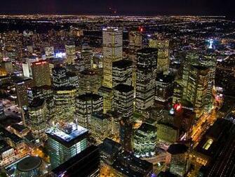 Toronto city financial district at night wallpaper city wallpaper