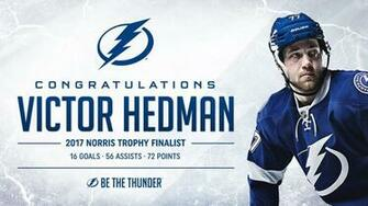 Victor Hedman a worthy Norris Trophy finalist NHLcom