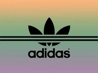 Adidas Sport Brand PPT Backgrounds   Black Multi Color