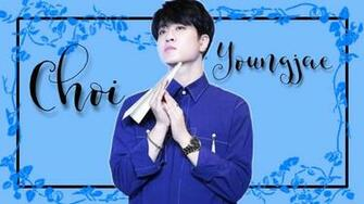 got7 choi youngjae flower blue wallpaper
