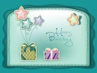 sober birthday greeting with cute little gifts embossed on front