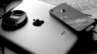 black and white apple inc ipad apples iphone 4 1920x1080 wallpaper